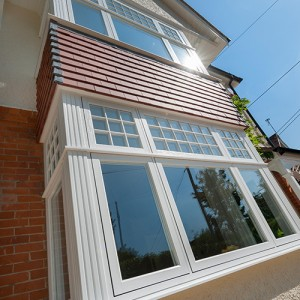 Bay UPVC window