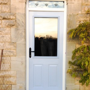 UPVC blue door