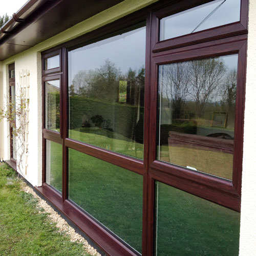 bespoke windows burgundy