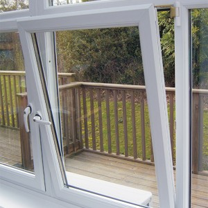 white tilt and turn UPVC windows