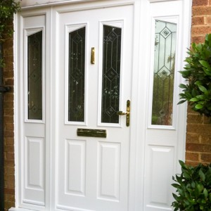 white UPVC bespoke door